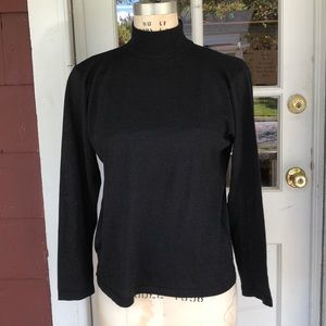 August Silk black turtleneck sweater